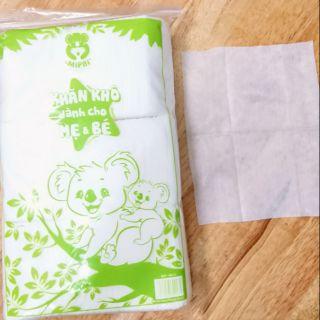 Set 5 bịch khăn khô trẻ em MipBi 260gr