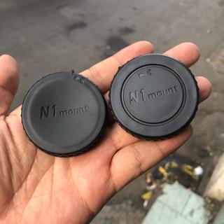 Bộ Cap (nắp) Body + Cap Đuôi Lens Máy Ảnh Mirroless Nikon-1 thumbnail