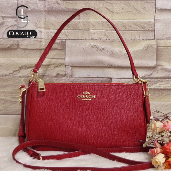 Túi COACH TOP HANDLE POUCH F25591 (bill Mỹ), Màu đỏ, giá tag 195$, vợt sale 2tr - 2866139 , 1083793368 , 322_1083793368 , 2000000 , Tui-COACH-TOP-HANDLE-POUCH-F25591-bill-My-Mau-do-gia-tag-195-vot-sale-2tr-322_1083793368 , shopee.vn , Túi COACH TOP HANDLE POUCH F25591 (bill Mỹ), Màu đỏ, giá tag 195$, vợt sale 2tr