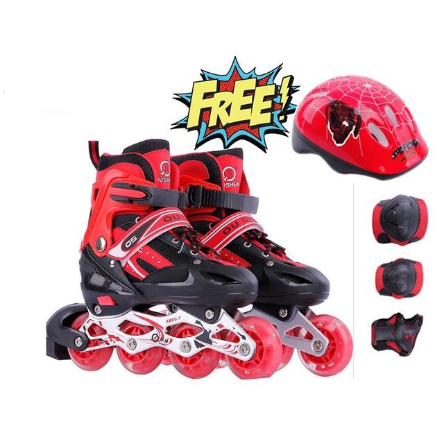 Combo Giày trượt patin thể thao cao cấp + Bộ bảo hộ (chân,tay,mũ)