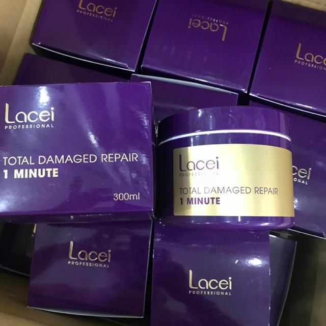 Hấp dầu kem ủ phục hồi lacei 1 phút 300ml hộp giấy tím FREESHIPdưỡng chất Collagen giúp tóc chắc khỏe ,suôn mượt óng ả