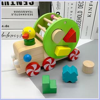 GIÁ TẠI XƯỞNG – Đồ chơi Xe kéo con vịt thả hình khối – Phát triển tư duy cho bé