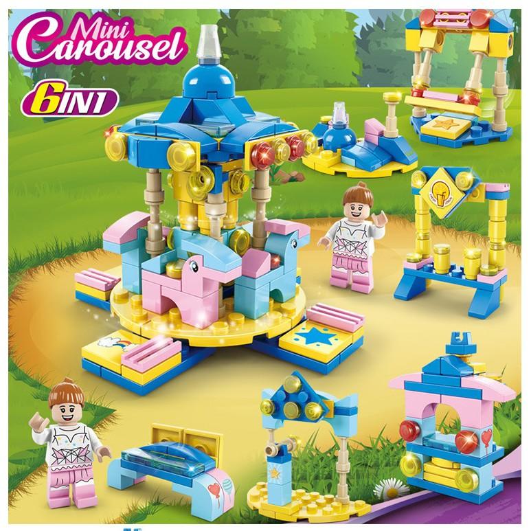 Đồ Chơi lego cho Bé Gái khu vườn cổ tích, công viên tuổi thơ, thành phố vui nhộn minhhanh588