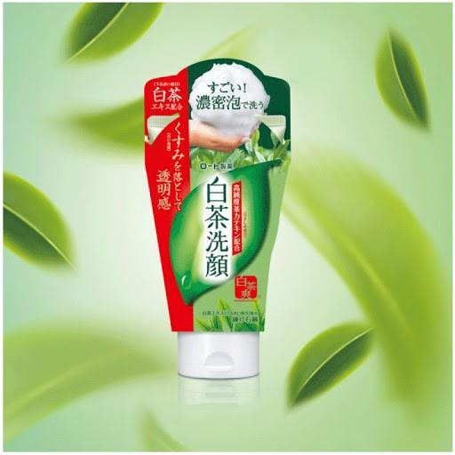 Sữa rửa mặt trà xanh Rohto Shirochasou Nhật Bản 120g