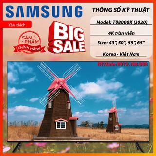 Smart Tivi Samsung 4K 43, 49, 55, 65 inch TU8000 Crystal UHD Mới 2020 – Hàng chính hãng
