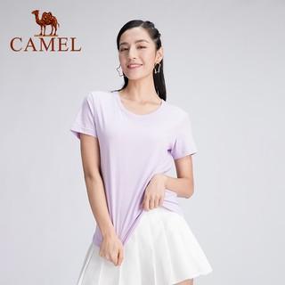 Áo Thun Camel 100% Cotton Tay Ngắn Màu Trơn Dành Cho Nữ thumbnail