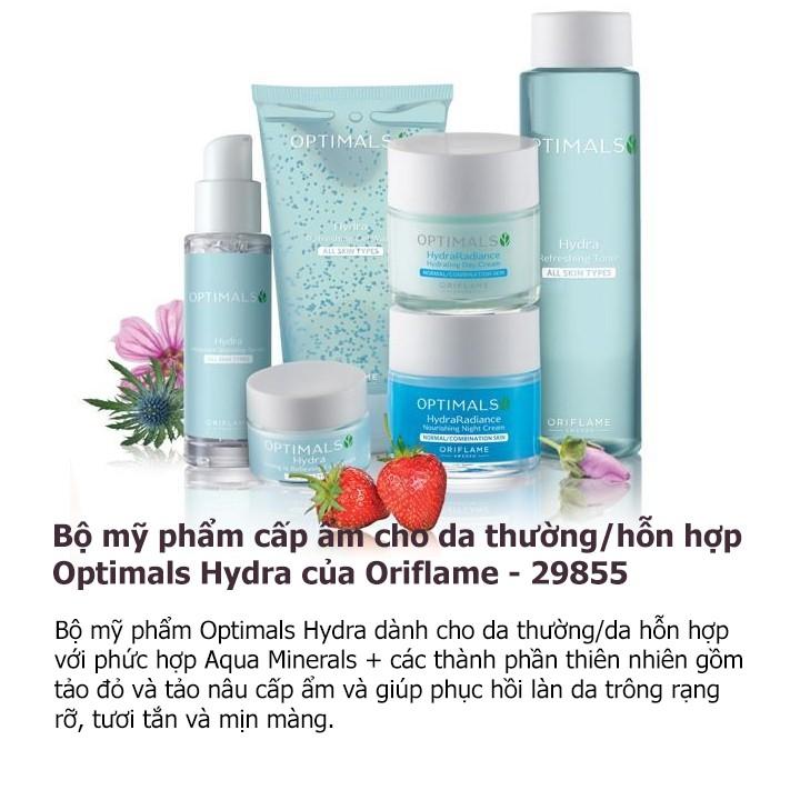 Bộ mỹ phẩm cấp ẩm cho da thường/hỗn hợp Optimals Hydra của Oriflame - 29855
