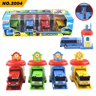 Children Cartoon Toy Bus Mini Cute Car Models Pop-Up Bus Gifts For Kids