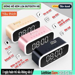 Loa Butooth H8 kiêm đồng hồ 2500 MAH trang trí bàn làm việc cực cool
