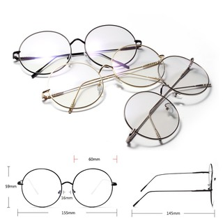 cermin mata Super large metal round flat mirror anti blue ray glasses