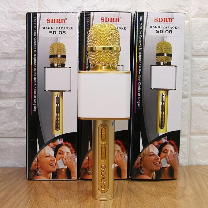 Mic micro Hát Karaoke Kèm Loa Bluetooth SD08 Hát cực hay - Âm thanh to rõ [Siêu khuyến mãi - Miễn phí vận chuyển] - 14834809 , 1037164669 , 322_1037164669 , 299000 , Mic-micro-Hat-Karaoke-Kem-Loa-Bluetooth-SD08-Hat-cuc-hay-Am-thanh-to-ro-Sieu-khuyen-mai-Mien-phi-van-chuyen-322_1037164669 , shopee.vn , Mic micro Hát Karaoke Kèm Loa Bluetooth SD08 Hát cực hay - Âm t