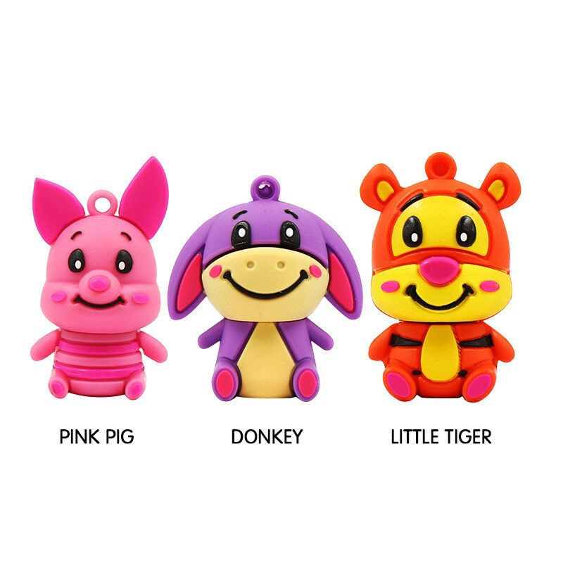 Animal USB Flash Drive 8GB 16GB 32GB Cartoon Pendrive Donkey/Pig/Tiger Usb Stick Giá chỉ 170.000₫