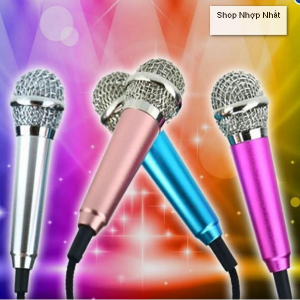 Micro mini hát karaoke cho smartphone máy tính bảng micro mini