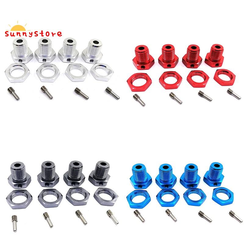 RC Car Alum Wheel Hub Nuts 17mm Hex Nuts Threadlock Replace 5353 for TRAXXAS E-REVO Off-Road Climbing Car-Blue