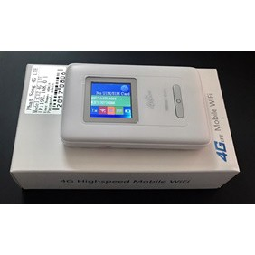 Phát sóng wifi từ sim 4G LTE C12 max speed 150mb - Có màn hình LCD hiển thị