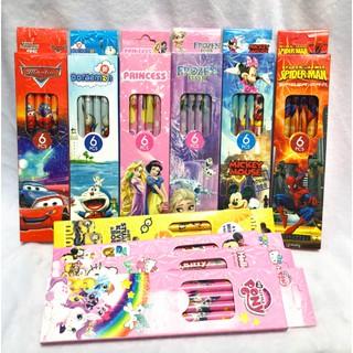 Hộp 6 bút chì cho trẻ em