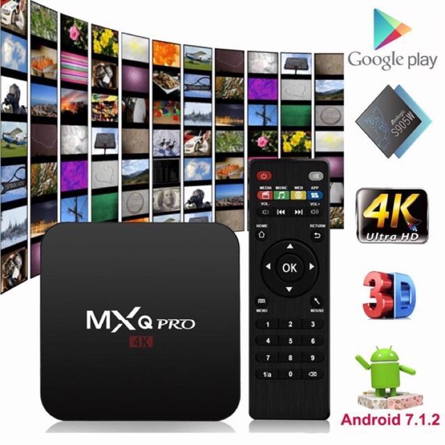TV Box Siêu nét 4K MXQ Pro - Chip xịn S905W Tích hợp FPT Play