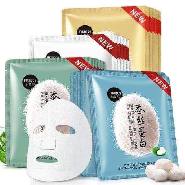 2pcs Mặt nạ làm trắng và dưỡng ẩm BIOAQUA, Mặt nạ Collagen