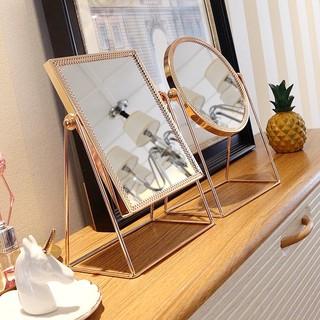 [Sẵn] Gương trang điểm để bàn bằng kim loại cao cấp