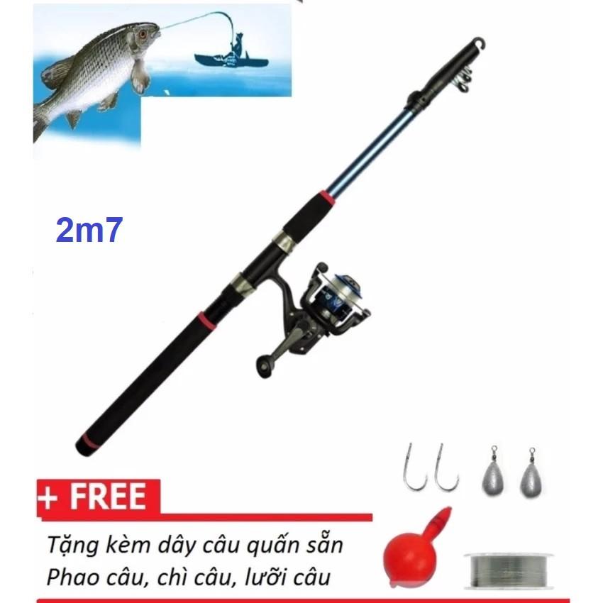 Bộ cần xếp câu cá 2.7M + máy câu cá và phụ kiện câu cá - 2972686 , 476095927 , 322_476095927 , 175000 , Bo-can-xep-cau-ca-2.7M-may-cau-ca-va-phu-kien-cau-ca-322_476095927 , shopee.vn , Bộ cần xếp câu cá 2.7M + máy câu cá và phụ kiện câu cá
