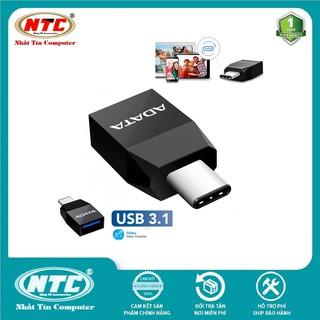Đầu chuyển OTG từ USB 3.1 sang Type-C Adata Tốc độ 5Gbps (Đen)
