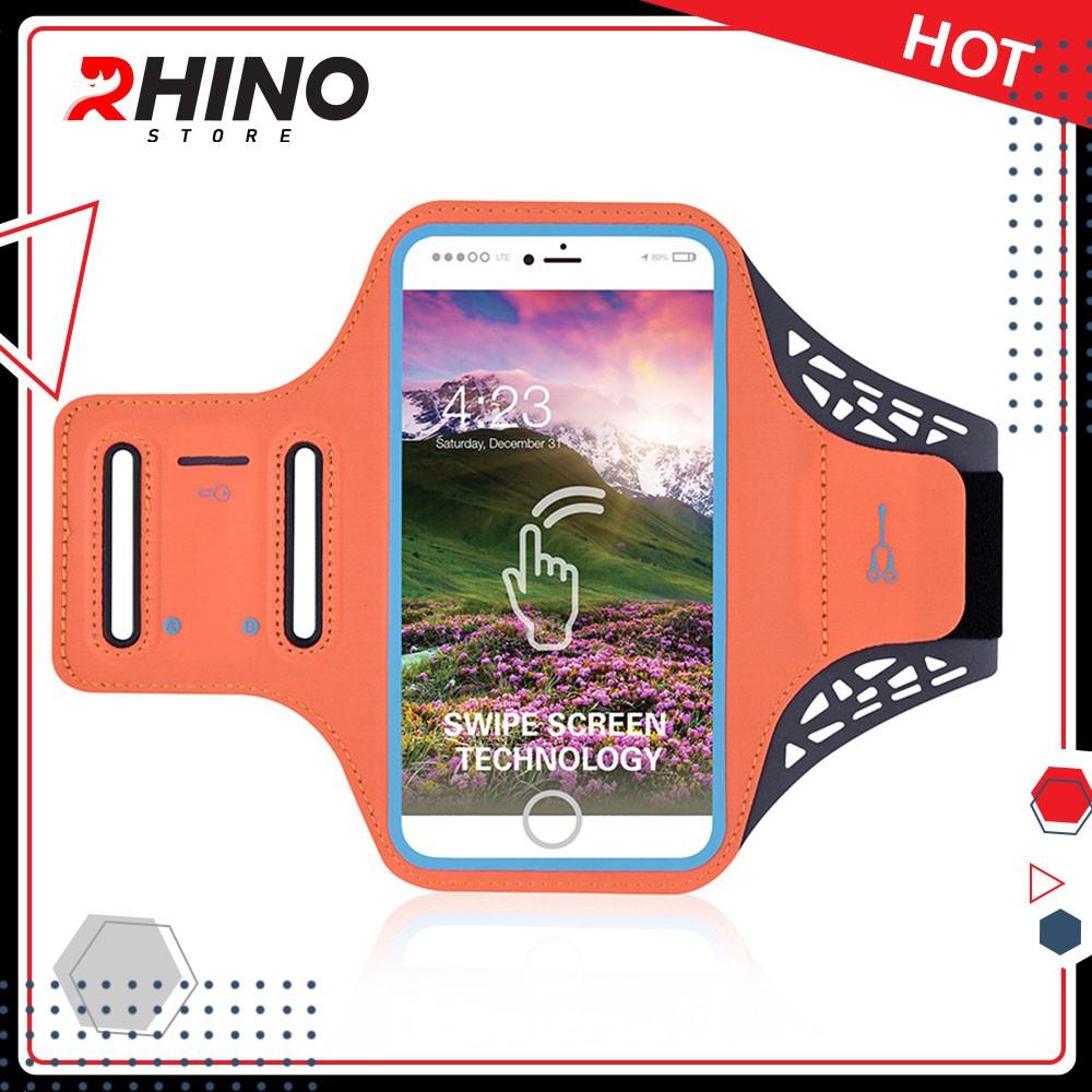 Túi đeo tay chạy bộ, túi đựng điện thoại chạy bộ rộng tới 6.5 Inch  ,Tập thể dục Rhino B103 Kháng nước, chống thấm.