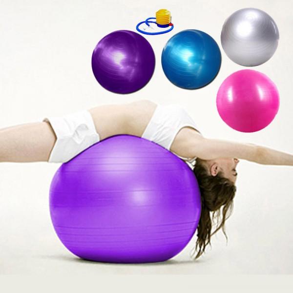 Bóng yoga, gym, ball trị liệu các cỡ (inbox chọn màu) tặng kèm bơm bóng