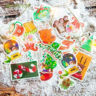 MIOSHOP 40 Pcs/Pack Kawaii Stationery DIY Craft Merry Christmas Holiday Decoration Paper Sticker