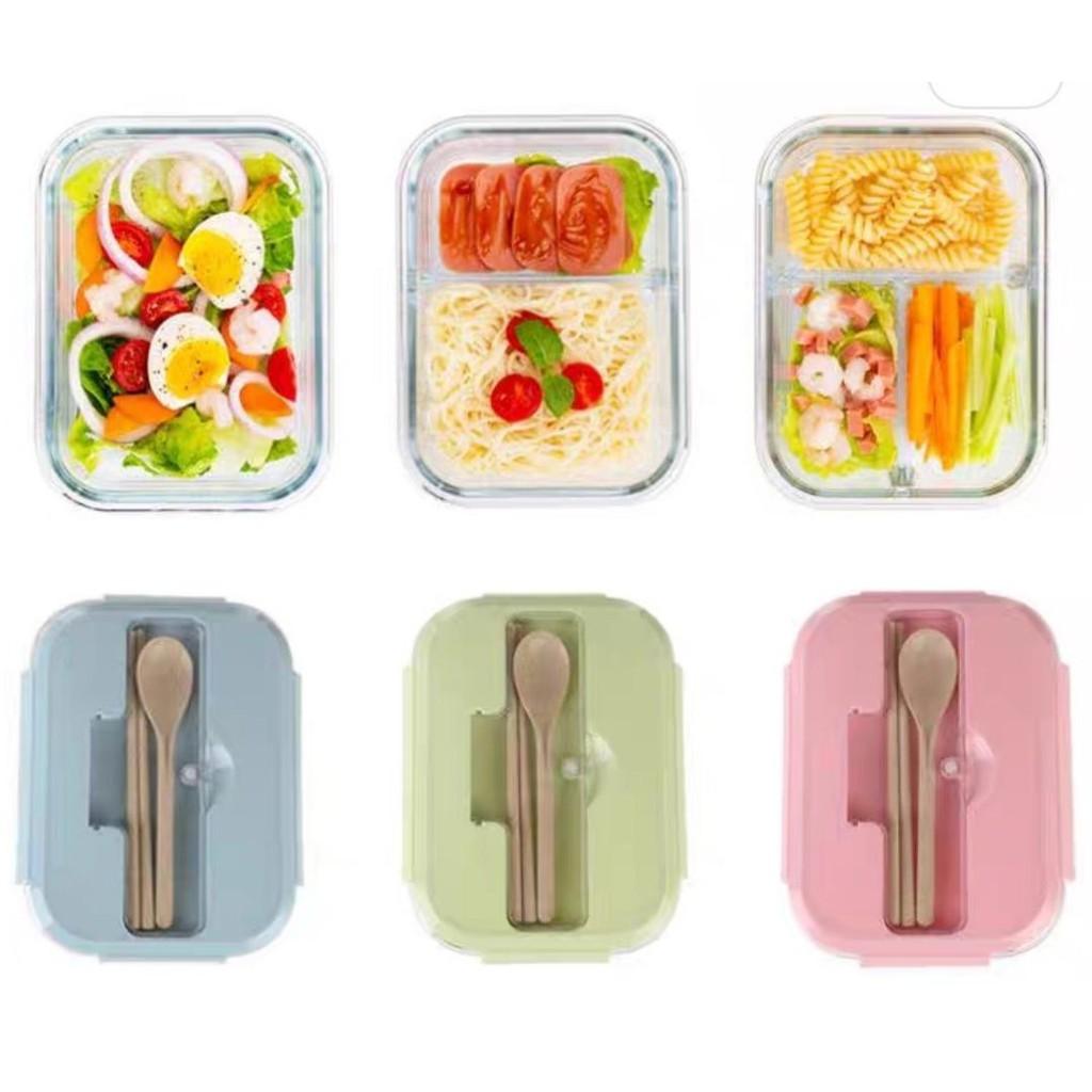 Hộp cơm hộp thực phẩm thuỷ tinh giữ nhiệt có van thông hơi nhiều ngăn More Fresh HĐC01