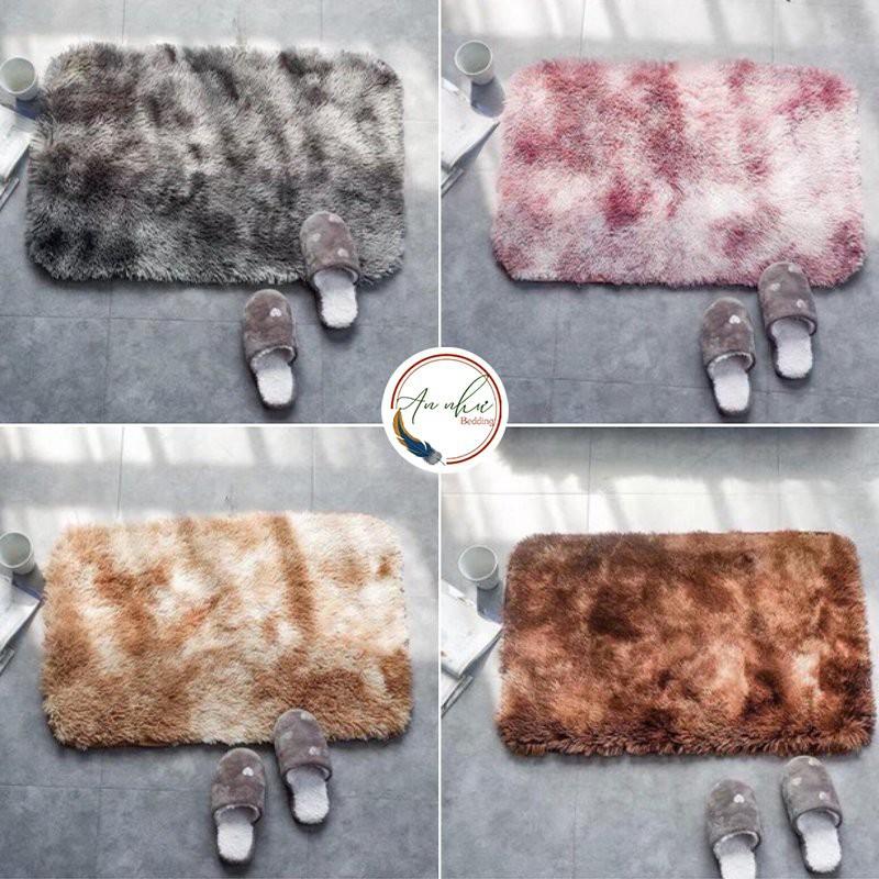 Thảm chùi chân 40x60 thảm lau chân lông loang, thảm chùi chân chống trượt Gia Long Home