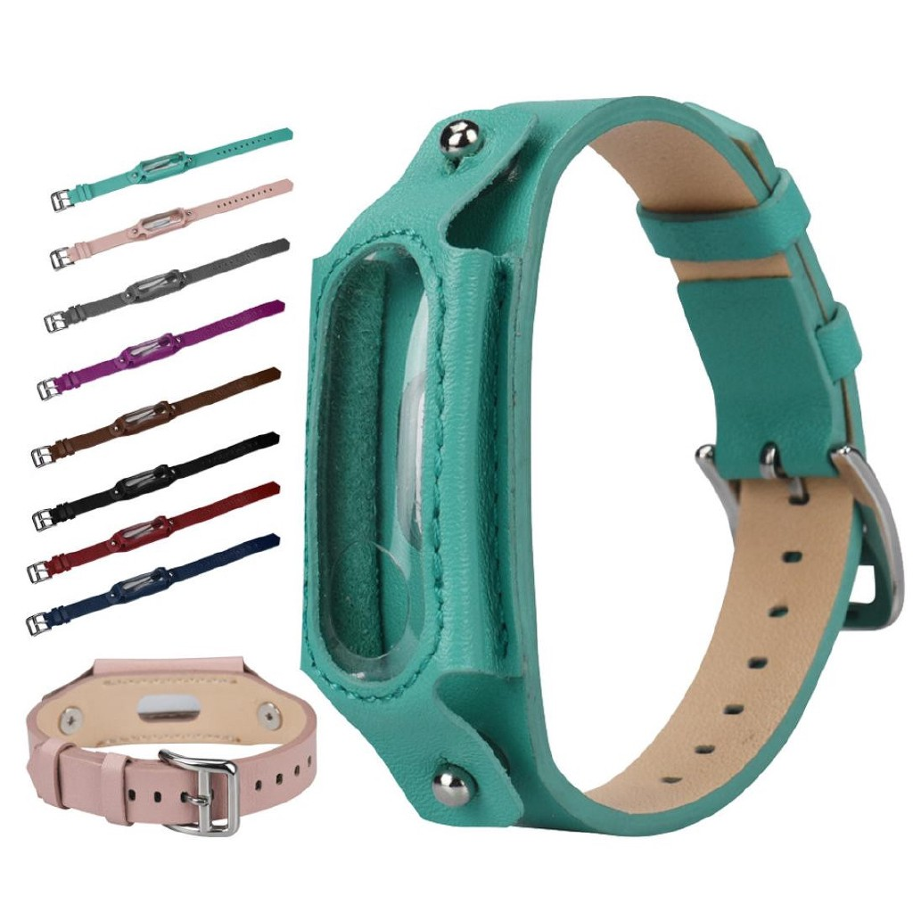 Fashion Replacement Leather Wristband Band Strap For Xiaomi Mi Band 3 Bracelet