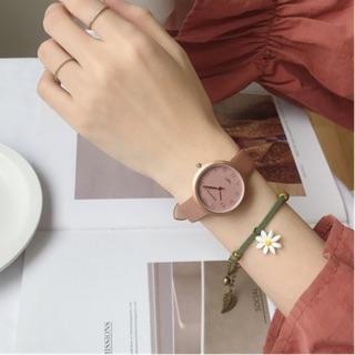 Đồng hồ nữ Doukou dây da cao cấp mặt số thời trang lịch lãm thumbnail