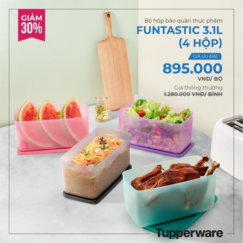 Bộ trữ mát Freshia / Funtastic four 3.1L / Stak n stor / Coolmate / midi deco Tupperware