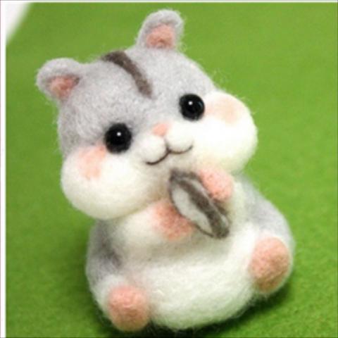 ○Bao Mouse rabbit cat bear wool felt poke le DIY handmade novice Material pack set delivery tool