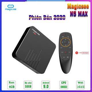 Android Tivi Box Magicsee N5 Max - Chip S905X3 - Ram 4GB - Bộ nhớ 32GB - Phiên Bản New 2020 - Bảo Hành 12 Tháng