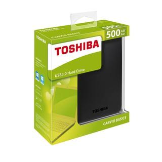 Ổ cứng di động TOSHIBA CANVIO BASICS 500GB/1TB/2TB USB 3.0