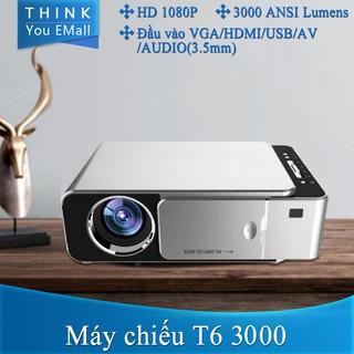 Máy chiếu UNIC T6 3000 Lumens Máy chiếu Full HD Máy chiếu hỗ trợ xem phim 4k 1080 Máy chiếu có cổng HDMI VGA USB