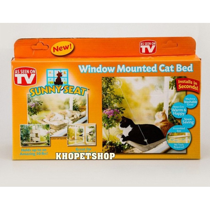 Giường gắn cửa Window Mounted Cat Bed
