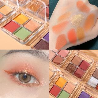 Bảng Phấn Mắt Lameila 4 Màu Lấp Lánh Chống Thấm Nước Có 6 Màu Để Chọn Lựa Phong cách Nhật Bản