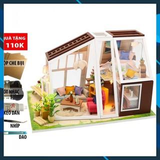 Mô hình nhà búp bê gỗ DIY Nhà búp bê lắp ghép Túp Lêu Lý Tường M902 Toy World thumbnail