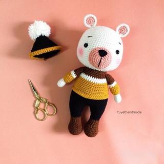 Gấu bông len cao cấp – Thú nhồi bông Huho len Thổ Nhĩ kỳ