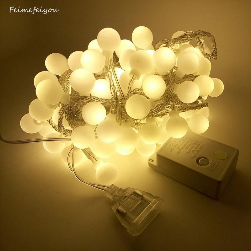 Dây đèn LED 100 bóng 10m dùng trang trí Giáng Sinh/ tiệc tùng