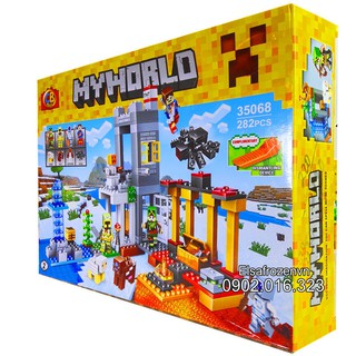 Bộ Lego Xếp Hình Ninjago Mineecraft My World. Gồm 282 Chi Tiết. Lego Ninjago Lắp Ráp Đồ Chơi Cho Bé