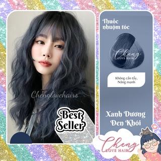 Thuốc nhuộm tóc XANH DƯƠNG ĐEN KHÓI không cần thuốc tẩy tóc Chenglovehairs, Chenglovehair