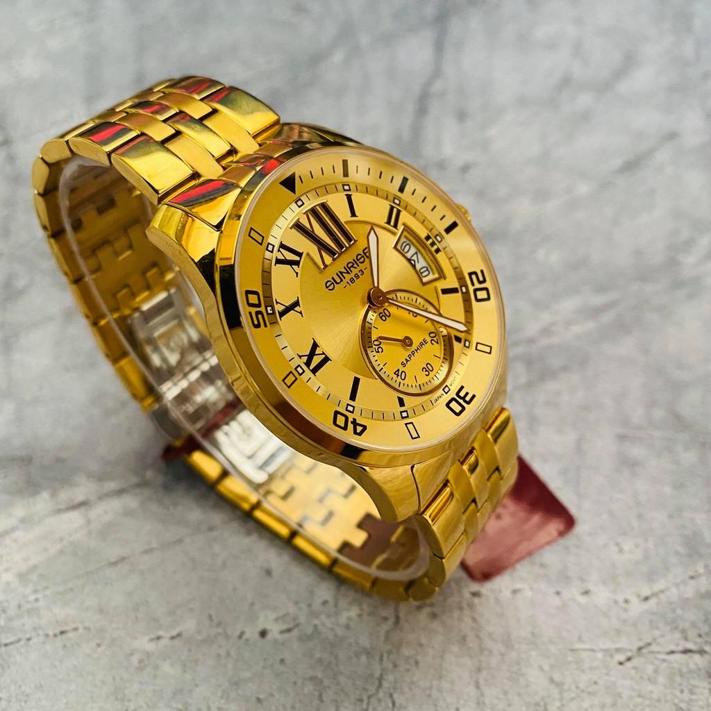Đồng hồ Sunrise nam chính hãng Nhật Bản DM124SA.G.V - kính saphire chống trầy - chốn
