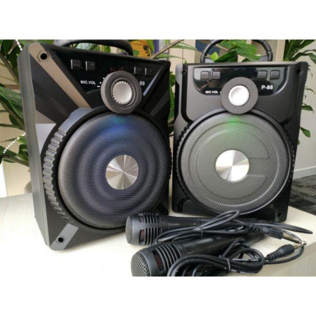 Loa Karaoke Bluetooth P88 Có Tặng 1 Micro Dây