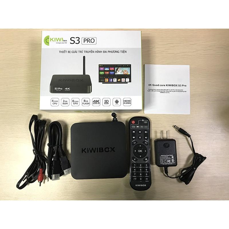 Android Tivi Box KIWIBOX S3 Pro Ram 2G - Rom 8G bảo hành 12 tháng