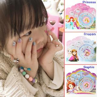 đông Lạnh Hello Kitty Trẻ Em Nail Nail Ring Vòng đeo Tay