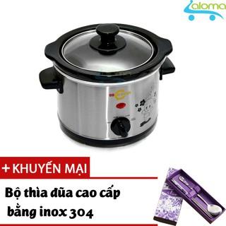 Nồi nấu chậm hầm kho nấu cháo dinh dưỡng 1.5 lít BBcooker BS15 - Tặng thìa đũa Inox thumbnail