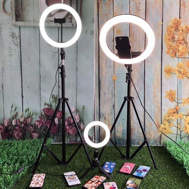 Bộ Đèn Livestream, Chụp Ảnh, Quay Phim, Chụp Ảnh Chuyên Nghiệp Size 20cm 26cm 33cm +Tặng Kèm Chân Đỡ + 1Kẹp Điện Thoại